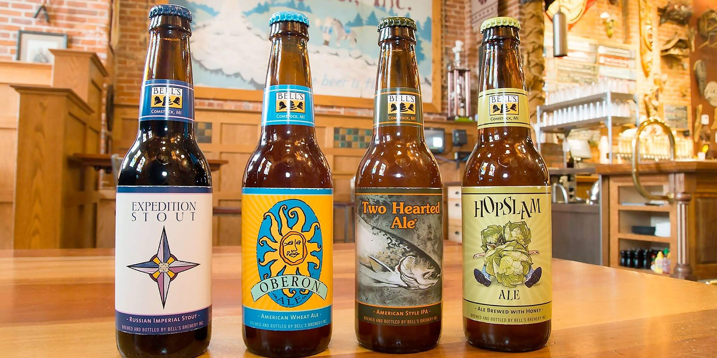 Lineup of bottled beers offered by Bell's Brewery, Inc.