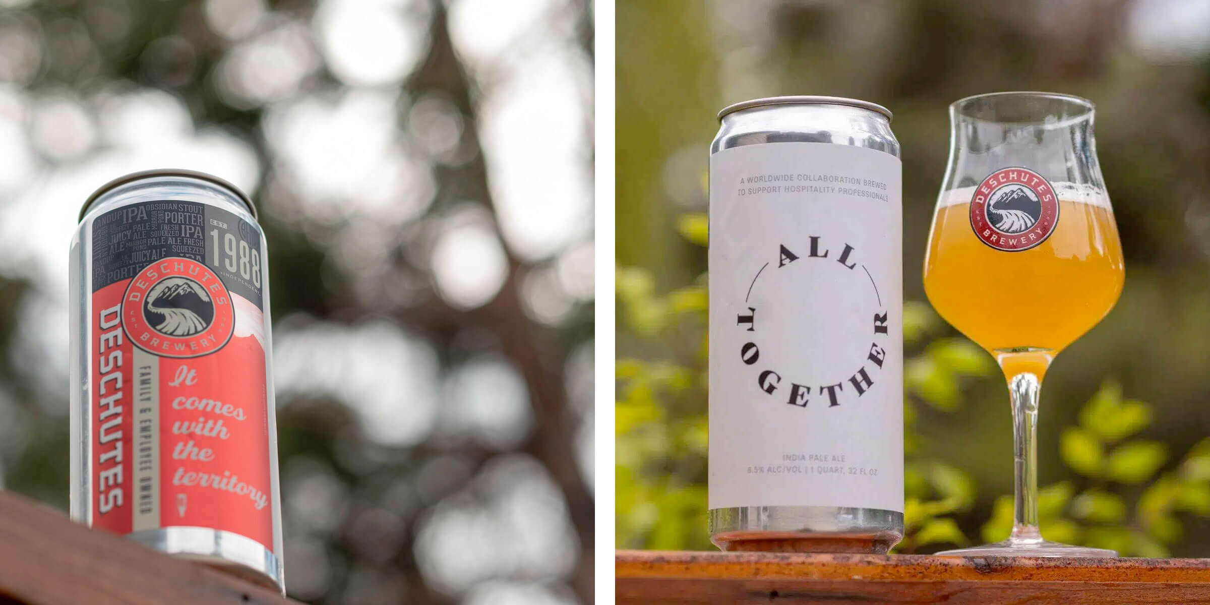 The All Together Beer is one of two beers being released by Deschutes Brewery in support of the hospitality industry