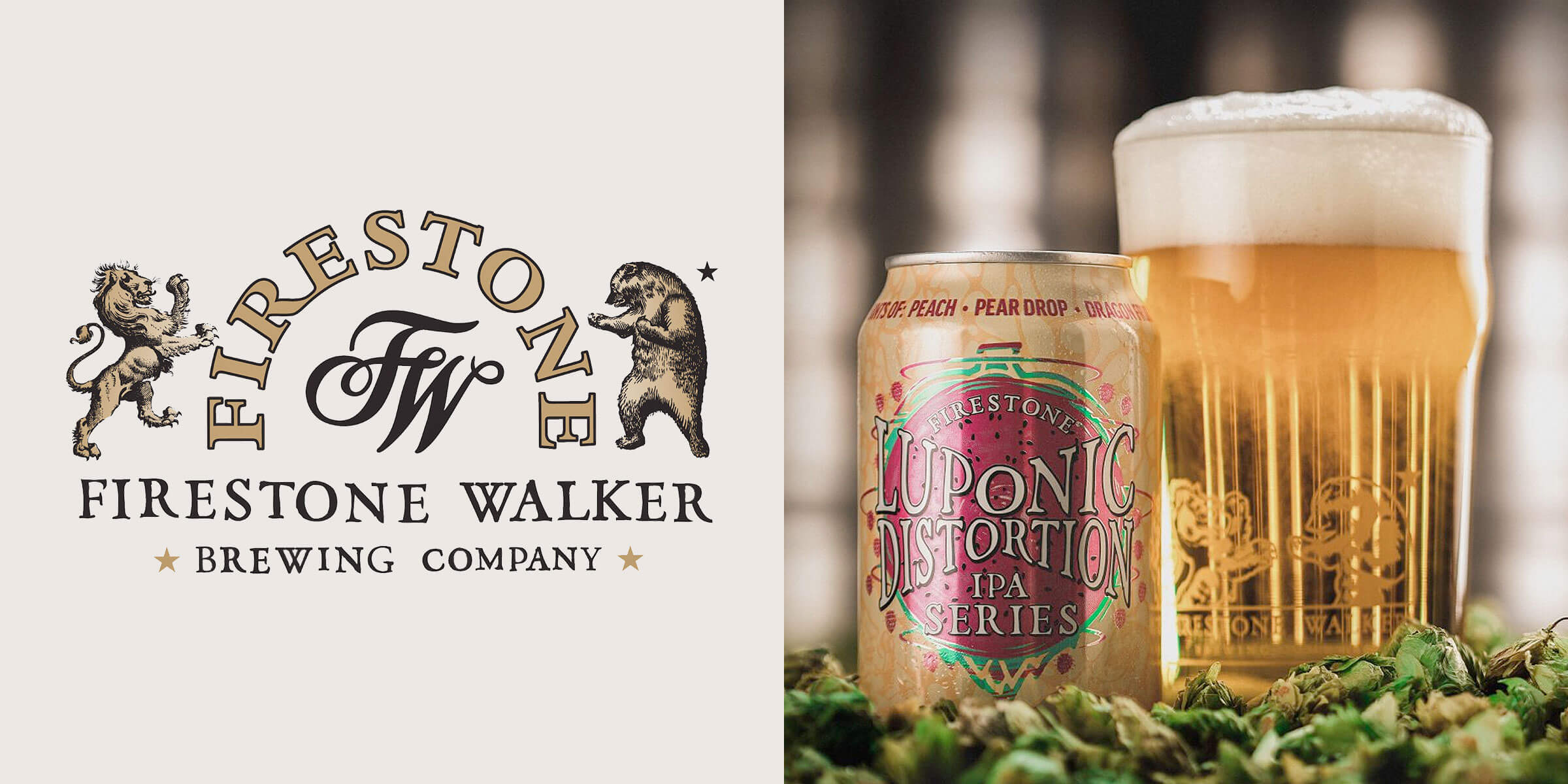 Firestone Walker Brewing Company released Luponic Distortion IPA No. 16 with six hops from three continents for flavors of peach, pear drop and dragonfruit.