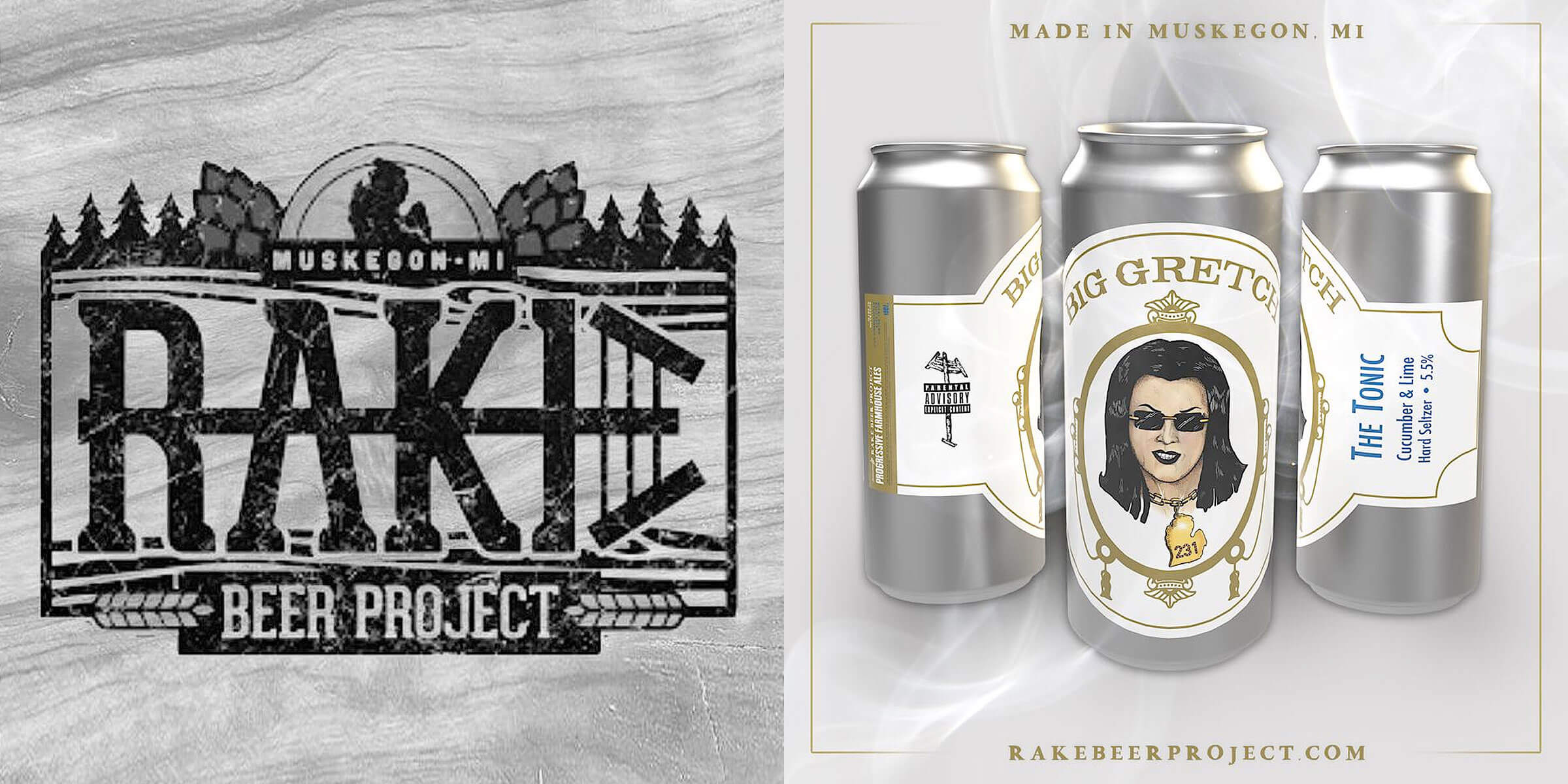 "Rake Beer Project, a brewery known for their unique sour beers, is launching ""Big Gretch"", a new hard seltzer named for Michigan Governor Gretchen Whitmer."