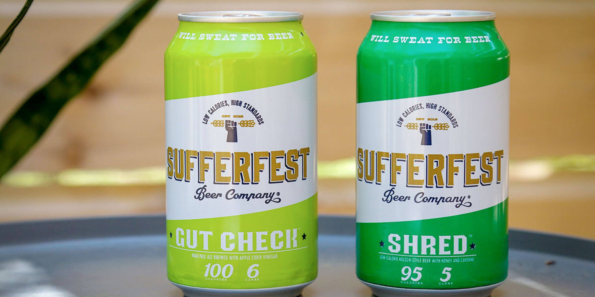Sufferfest Beer Company introduces two new flavorful and low-calorie beers for the athlete in all of us, the Gut Check IPA and Shred Kolsch.