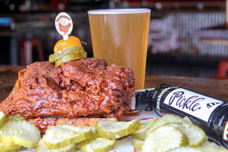 The Dill With It pickle kölsch is exclusively available at the four Party Fowl locations in Middle Tennessee.