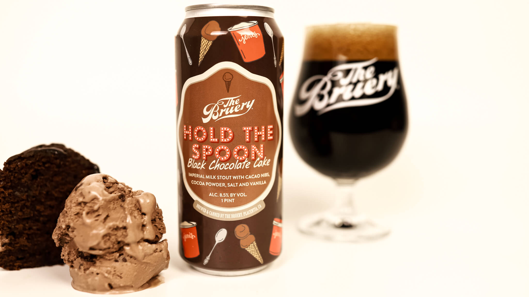 The Bruery announced the launch of their second collaboration with Jeni's Splendid Ice Creams — Hold The Spoon: Black Chocolate Cake.