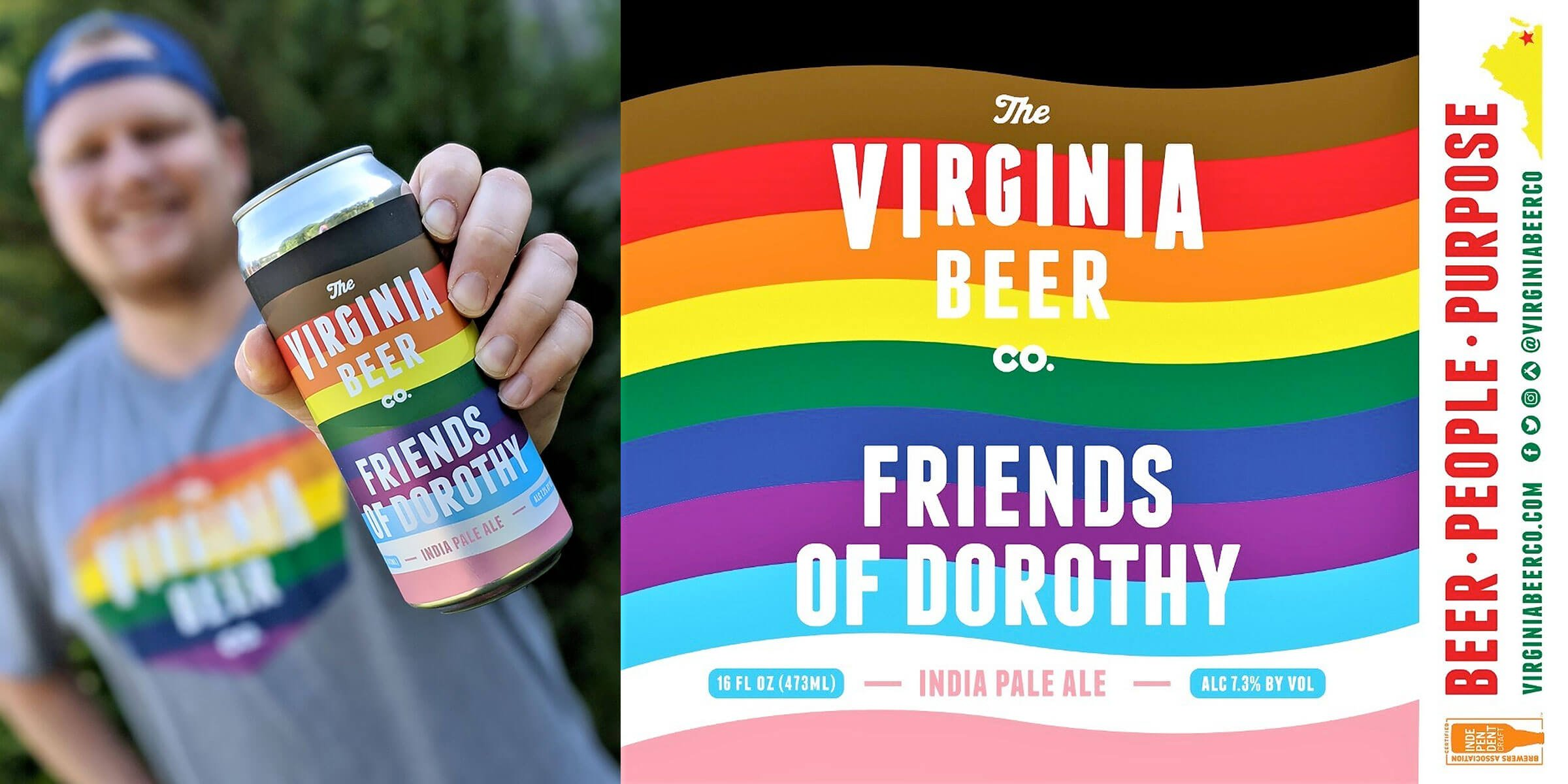 The Virginia Beer Company is proud of its latest limited release, the Friends Of Dorothy Pride IPA, to highlight greater inclusivity in the community.