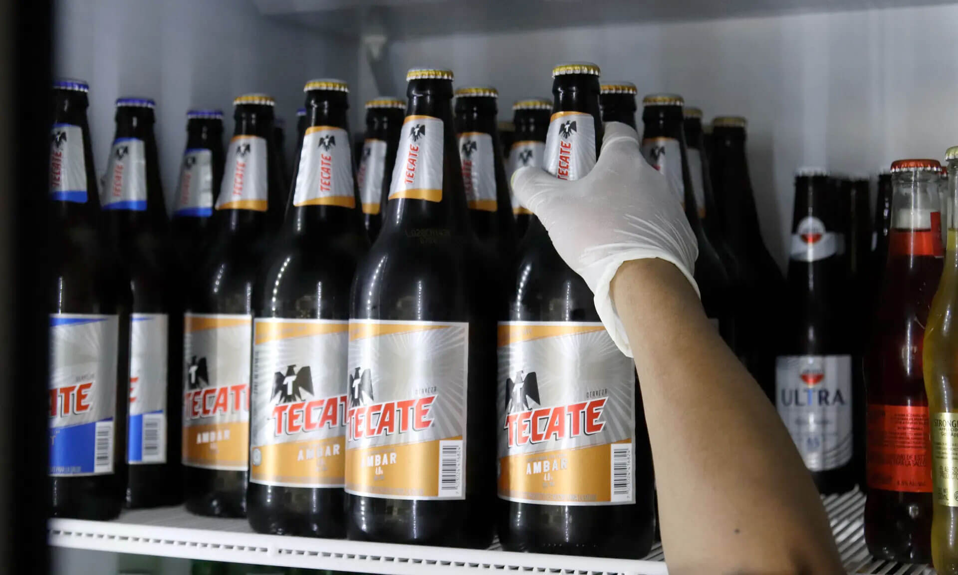 Beer for sale early last month in Mexico City. Supplies have dwindled as the country in a national beer drought. Photograph: Jose Pazos/EPA