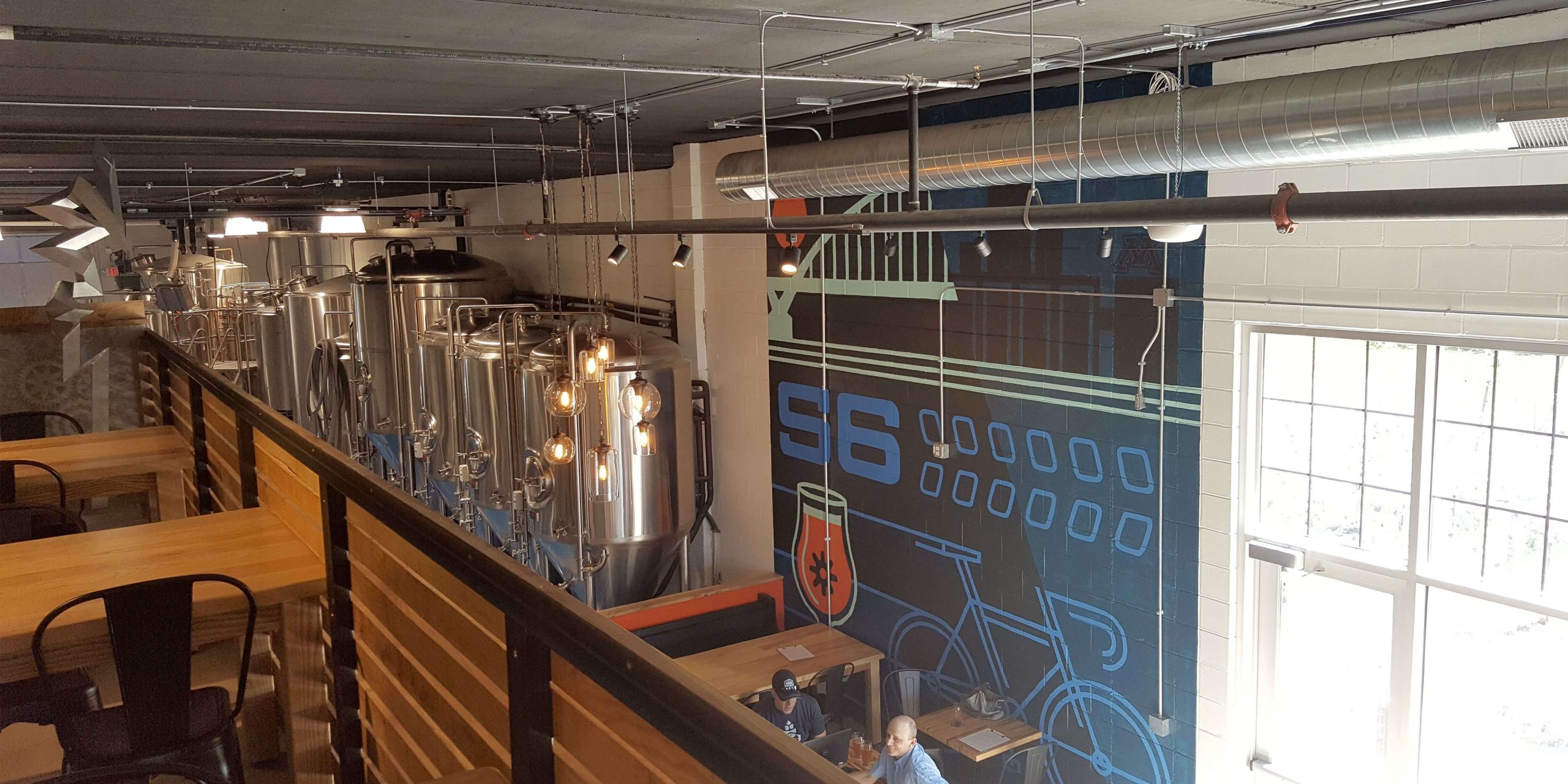 Inside the taproom at 56 Brewing in Minneapolis, Minnesota