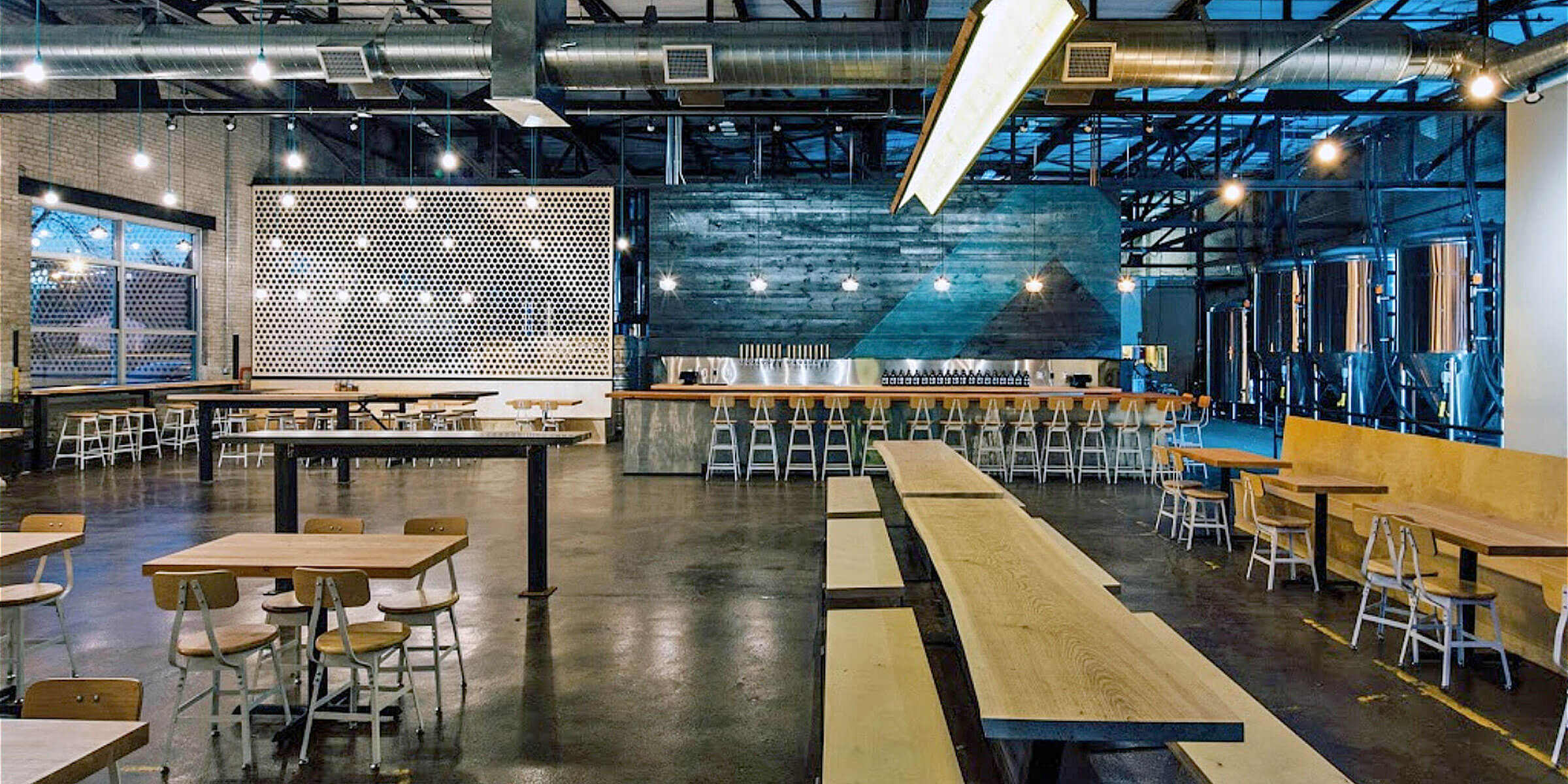 Inside the taproom at Able Seedhouse + Brewery in Minneapolis, Minnesota