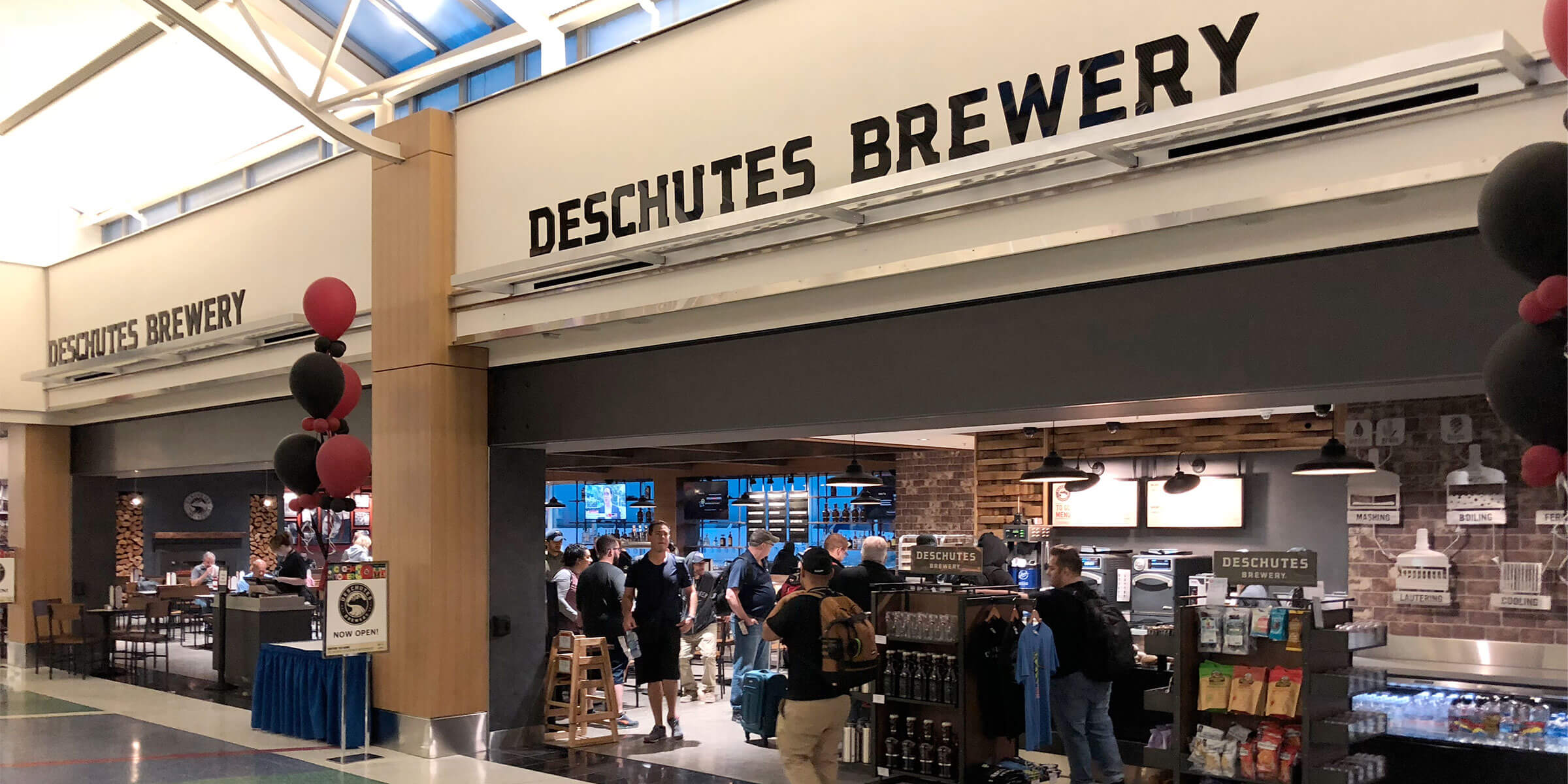 Outside the PDX Airport Hub of Deschutes Brewery at Portland International Airport in Portland, Oregon
