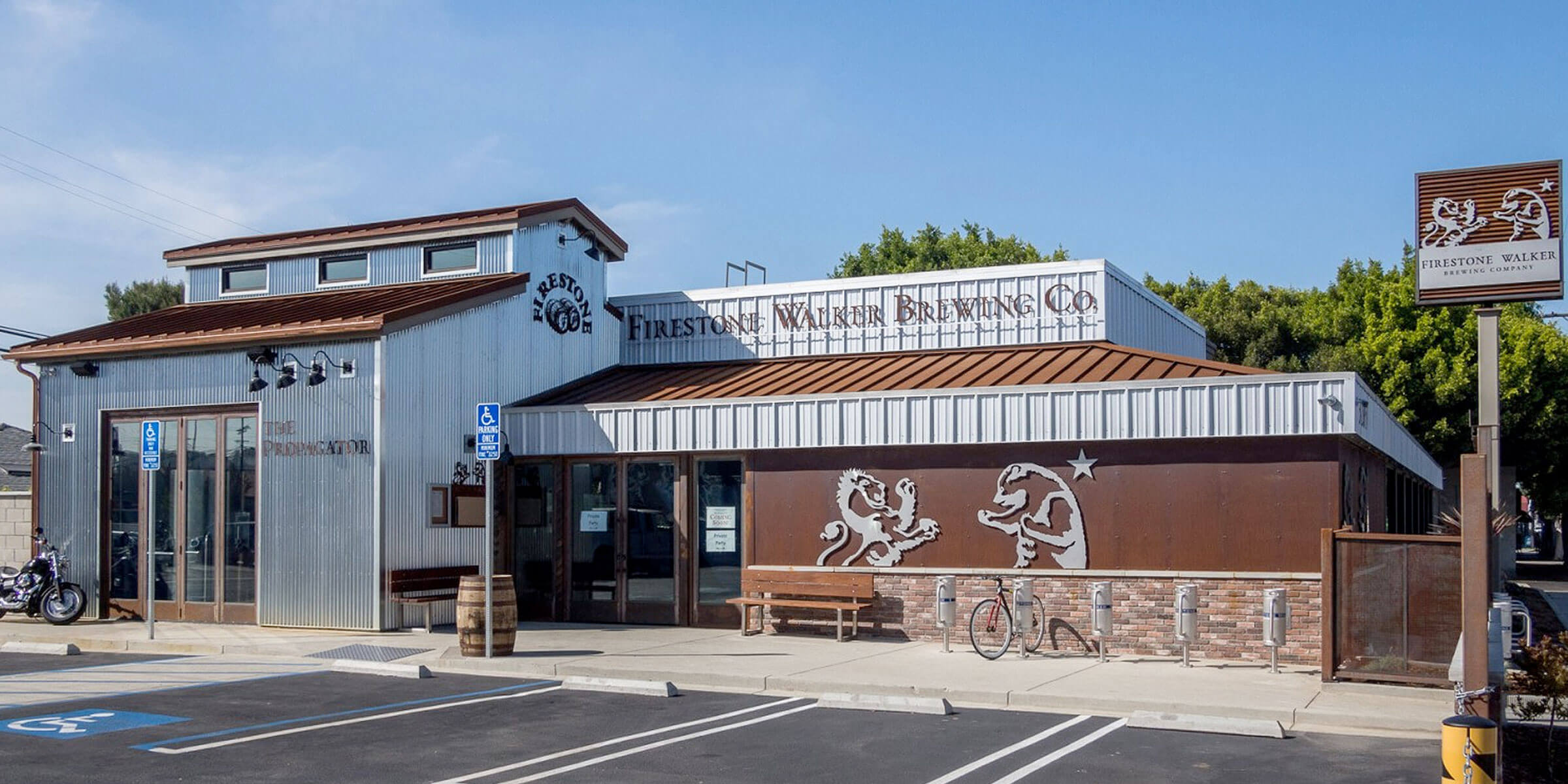 Outside the The Propagator location of Firestone Walker Brewing Company in Marina Del Rey, California