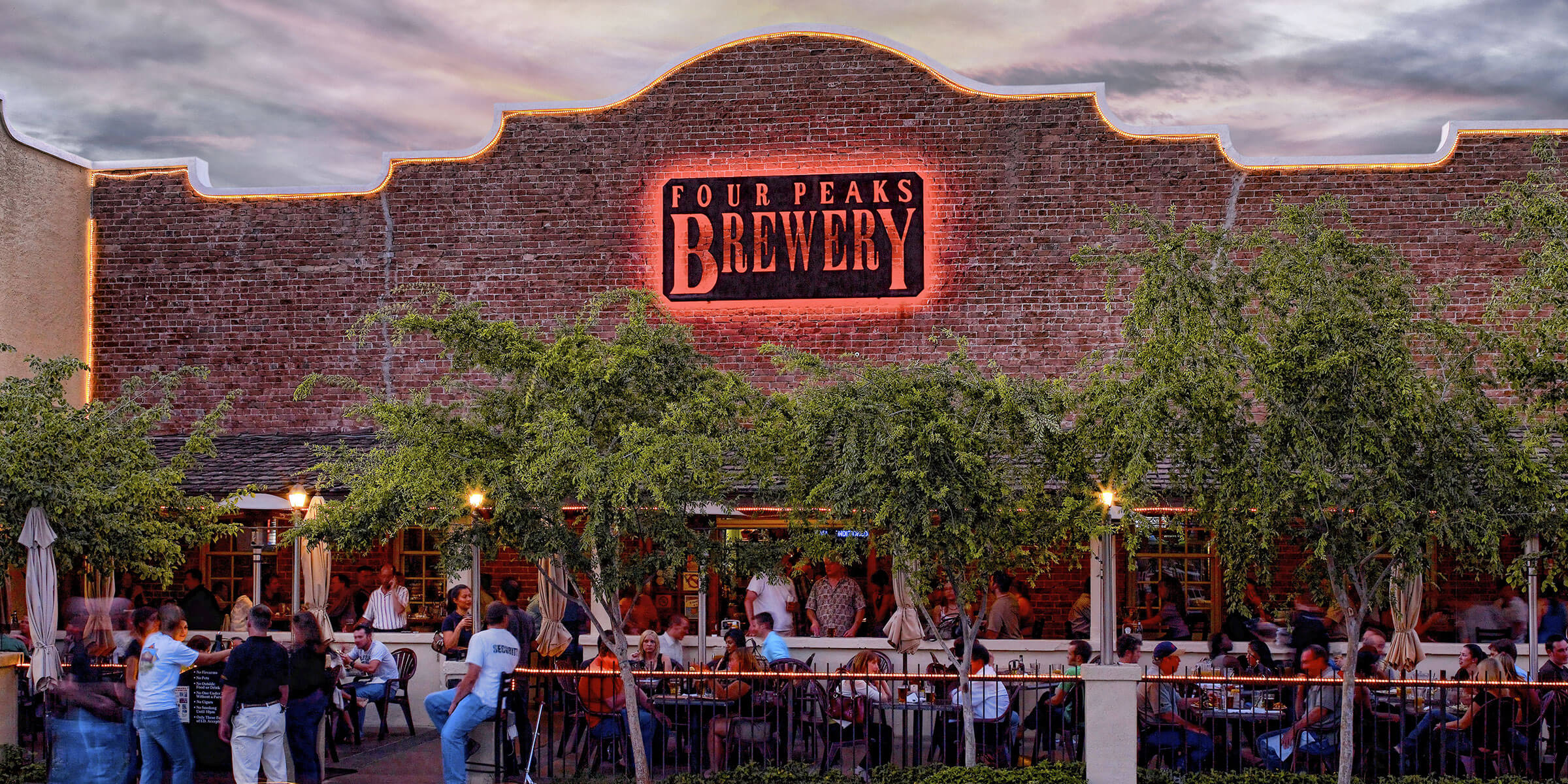 Outside the Four Peaks Brewing Co.'s 8th Street Brewery in Tempe, Arizona