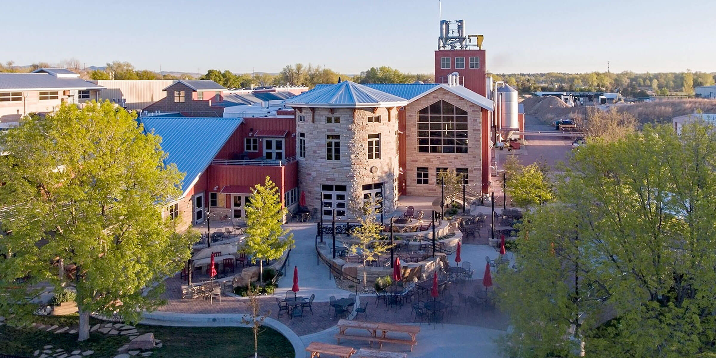 Outside the Fort Collins Brewery of Odell Brewing Co. in Fort Collins, Colorado