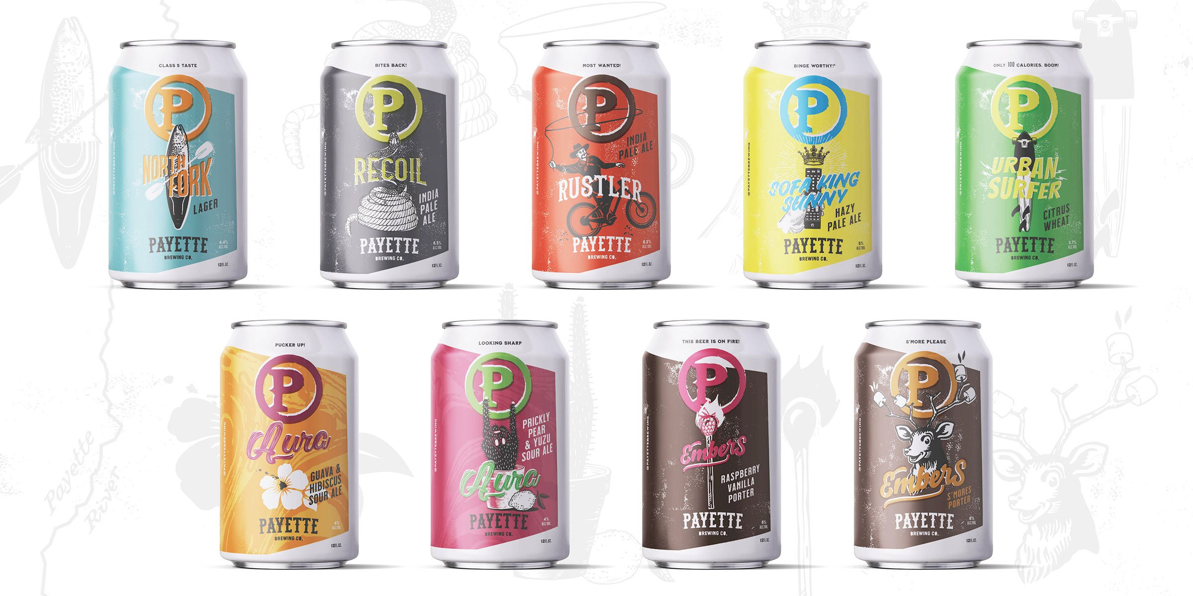 Payette Brewing Company launched a new look of their 12 oz. cans for their lineup of beers.