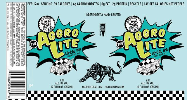 Label design for 12 oz. cans of the Aggrolite IPA by Ska Brewing