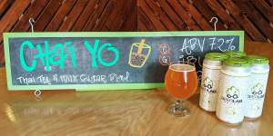 """The latest limited release from Beer Lab HI, the """"Chai Yo, Thai Tea & Milk Sugar Ale"""", a Belgian-style Blond Ale, is now available from the Honolulu-based brewery."""