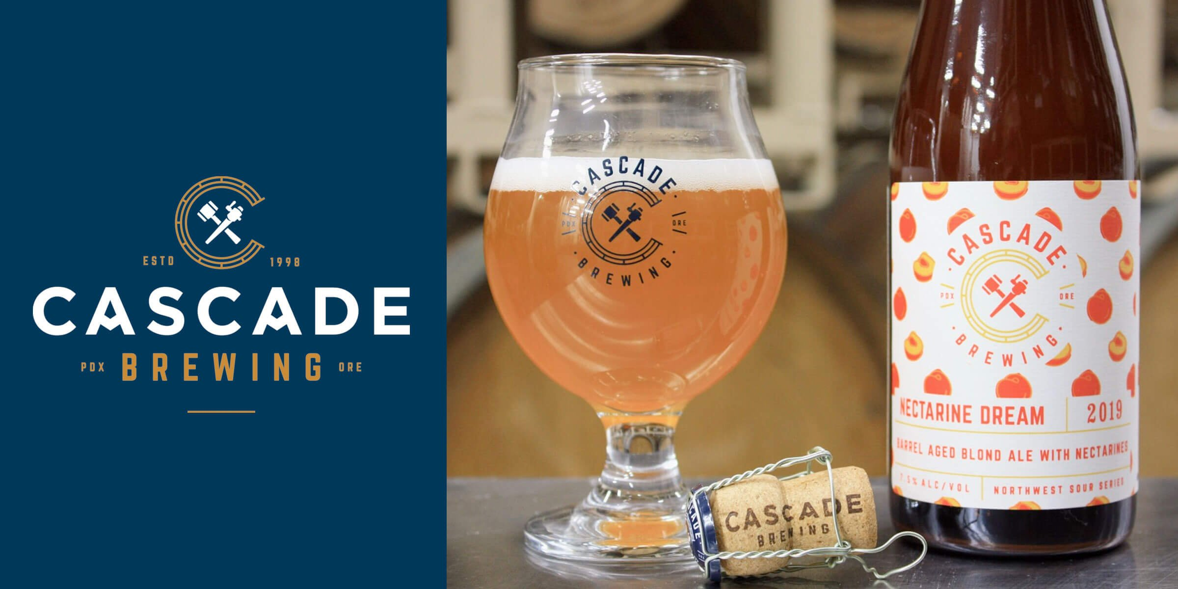Cascade Brewing announced the upcoming releases for the sour blond ales Nectarine Dream 2019 in 500 ml bottles and the Native Bramble 2019 on draft only.