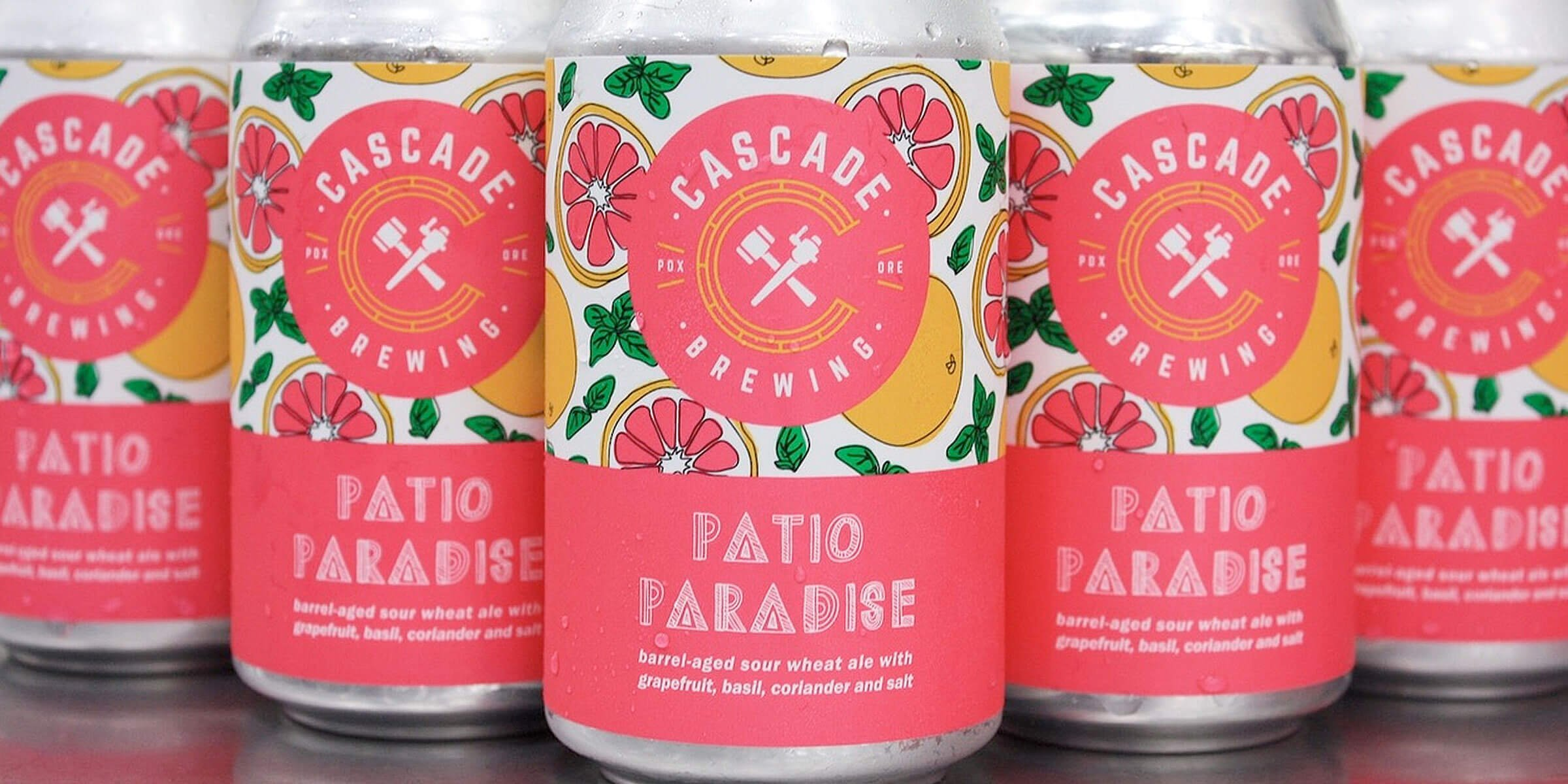 For the holiday weekend, Cascade Brewing released Patio Paradise sour wheat ale and launched its Sour Slushies frozen ale and juice blended beverage.