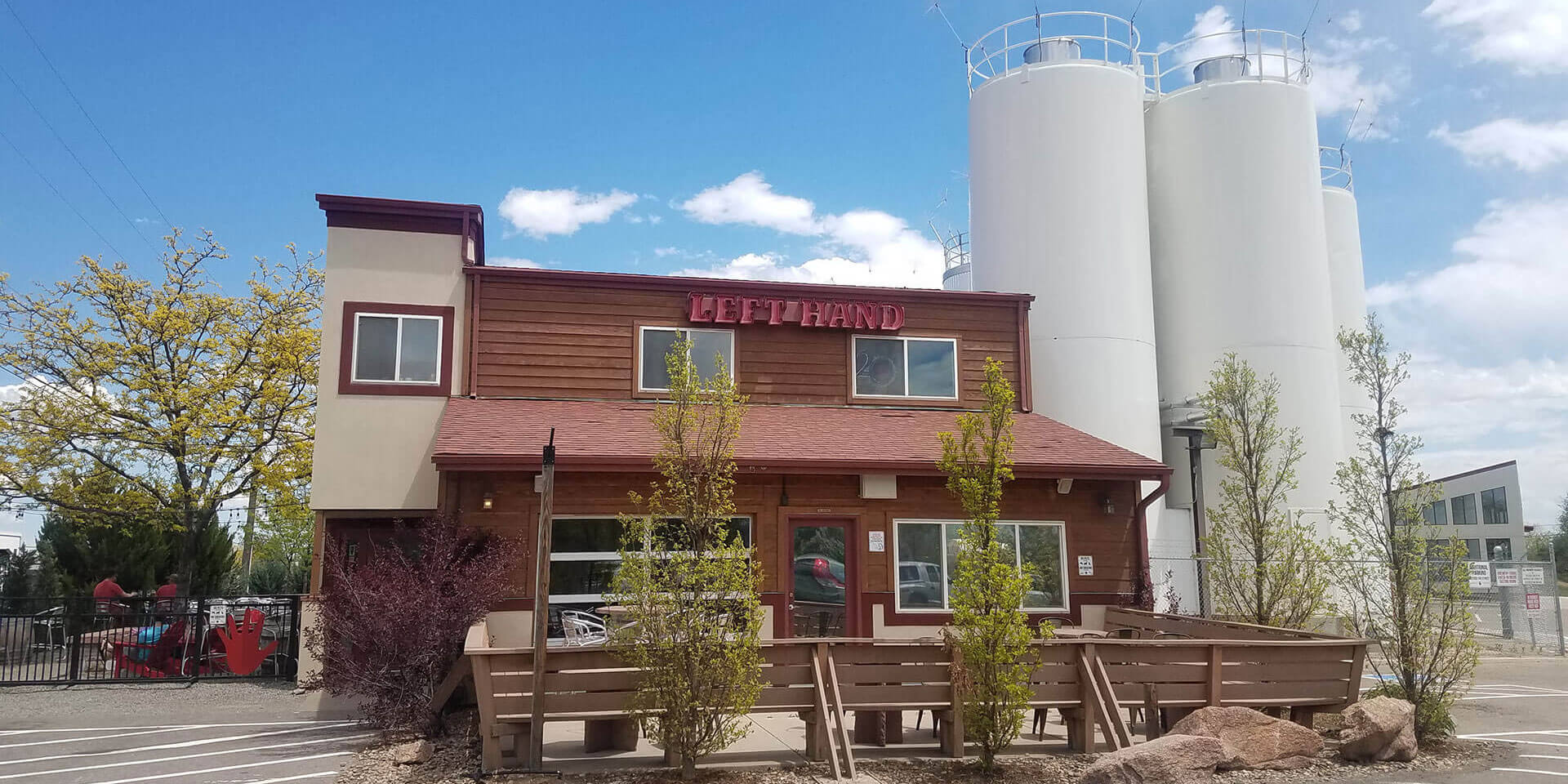 Outside the Left Hand Brewing Company taproom in Longmont, Colorado