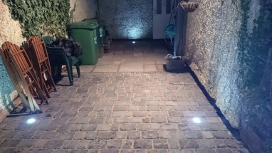 Landscaping Chester the finish with lights 2