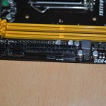 Biostar H110MH RAM Ports and 24 pin Power Connector