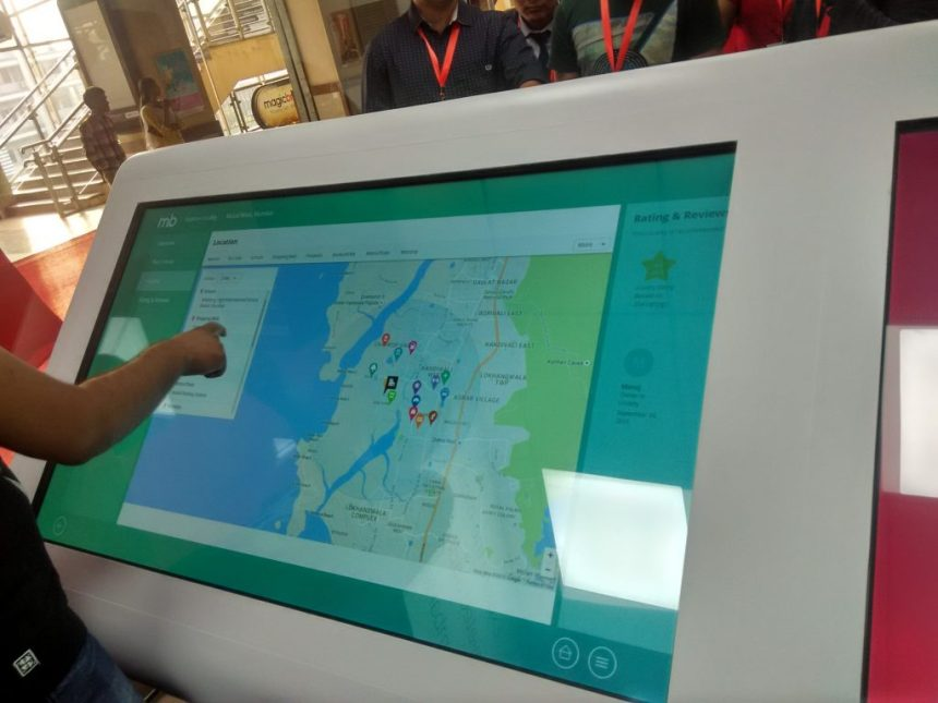 Huge Touch Screen MagicBrick Experience Center