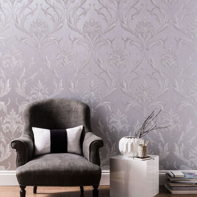 Oxford Silver and Grey Wallpaper