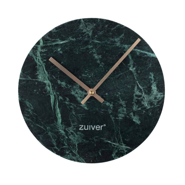 Marble Time Wall Clock in Green, £65
