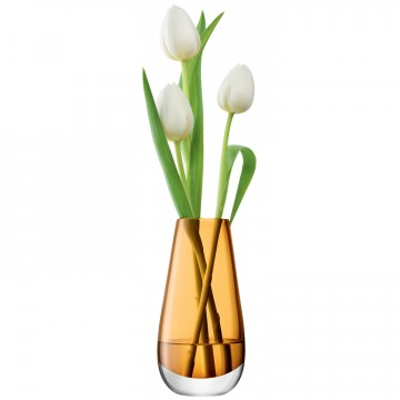 Amber Flower Colour Bud Vase From LSA International With White Flowers