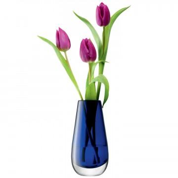 Cobalt Blue Flower Colour Bud Vase From LSA International