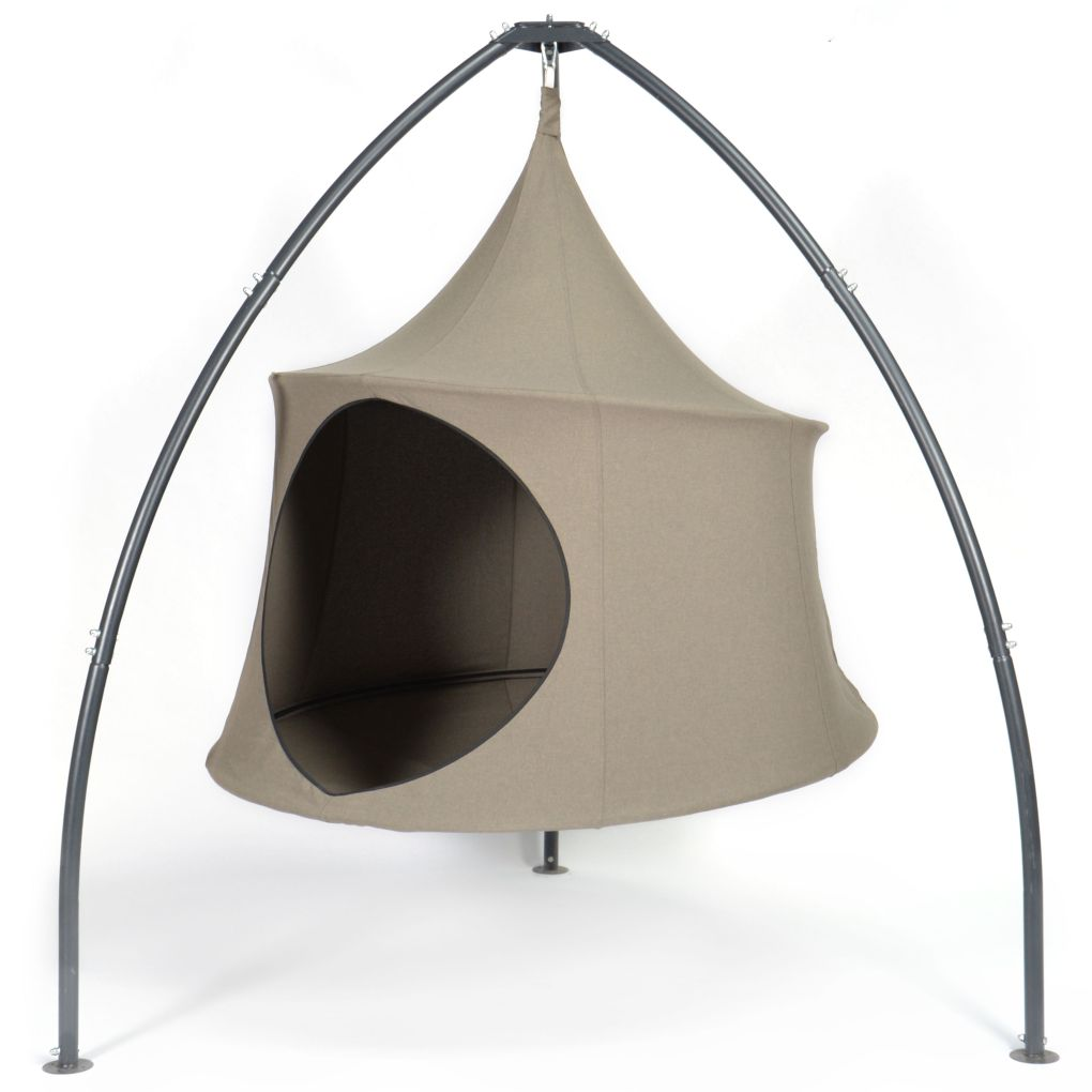 Domo Hanging Armchair Tent, your very own treehouse on stilts.