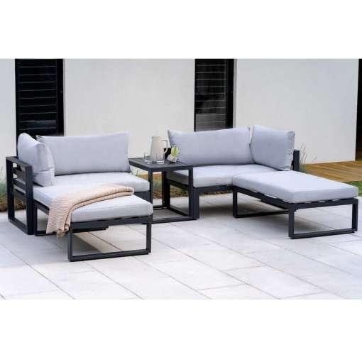 Santorini, Lounge Set with Side Cushions, Grey