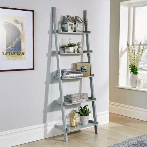 Ladder Shelving Unit, Grey