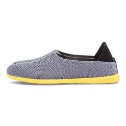 Mahabis Breath Summer Slippers, Light Grey & Yellow