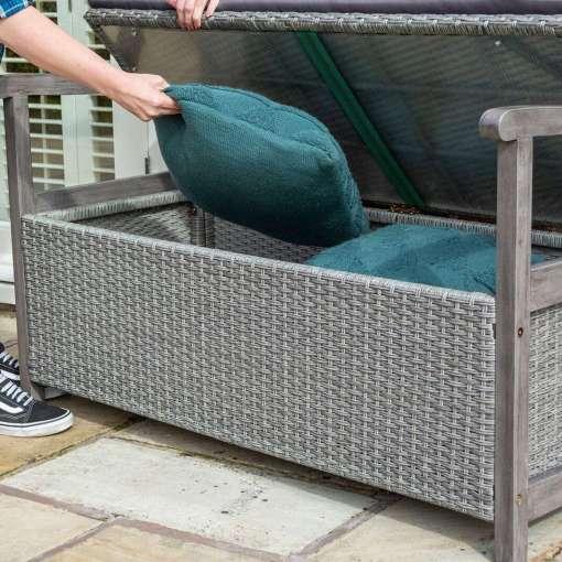 Rowlinson Alderley Rattan Storage Bench