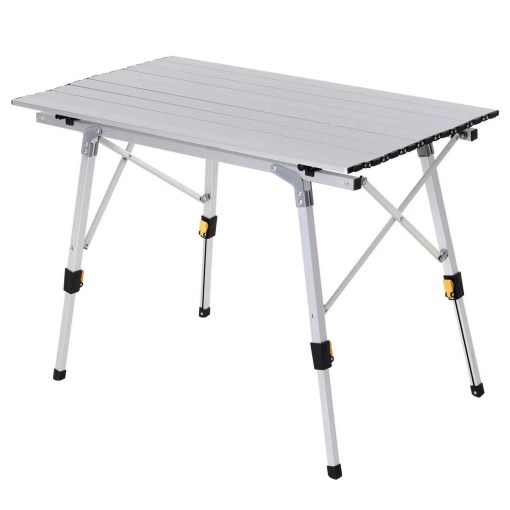 Outsunny 3ft Folding Picnic Table & Rolling Top