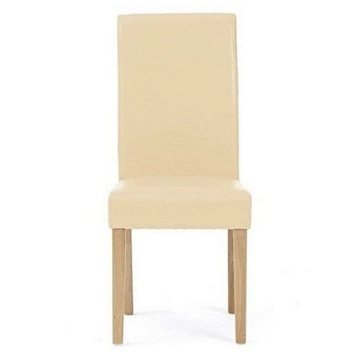 Albany Faux Leather Dining Chair, Cream