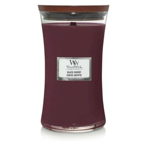WoodWick Black Cherry Large Jar Candle, 180 Hours