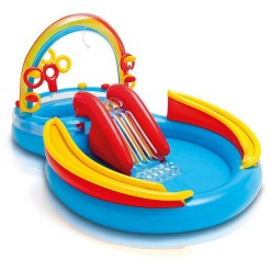 Intex Rainbow Rings Inflatable Children's Pool Play Centre