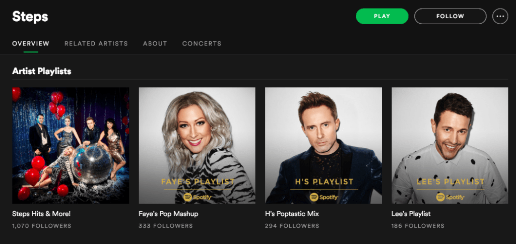 Steps Playlists