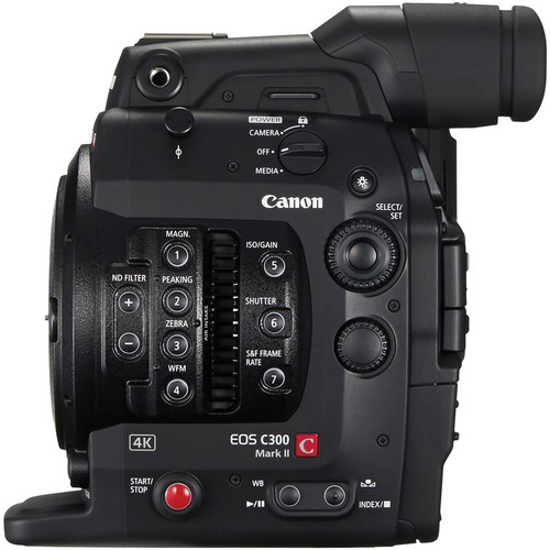 Canon C300 MKII Left-Side View