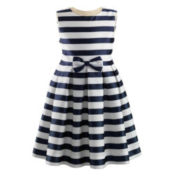 Striped Damask Party Dress £71.20; rachelriley.co.uk