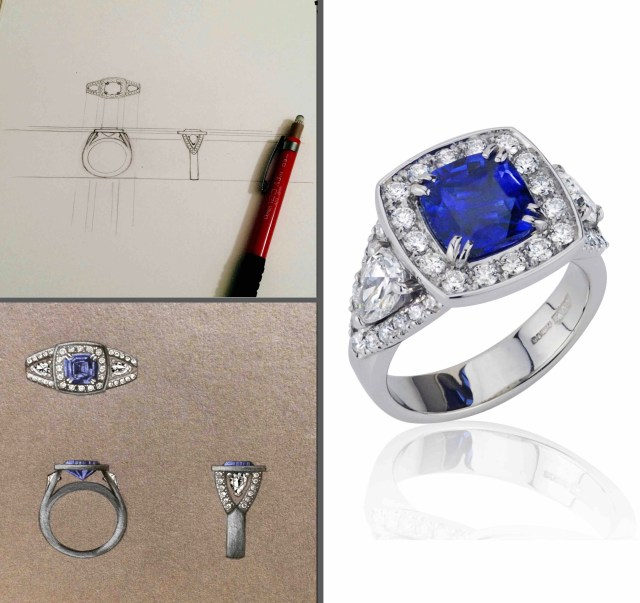 cushion sapphire and pear diamonds copy 2 (1)