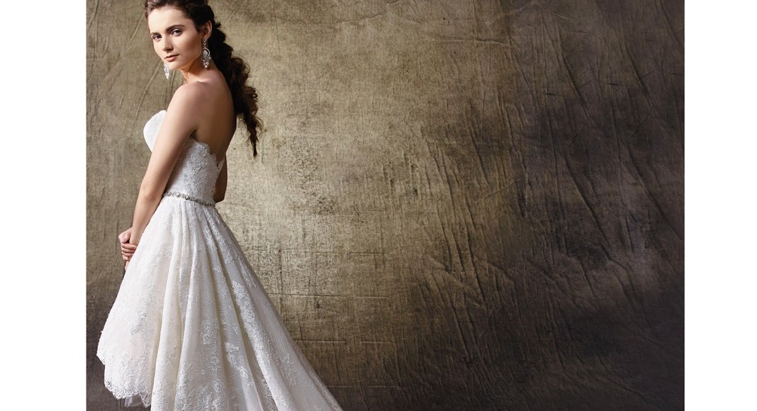 Bridal trend: Join the chain gang with these fabulous hi-lo wedding gowns