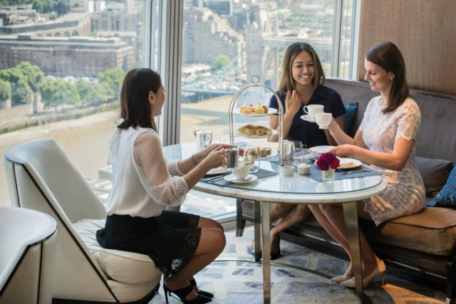 Join Sassi Holford for an exclusive afternoon tea at the Shangri-La Hotel, At The Shard, London