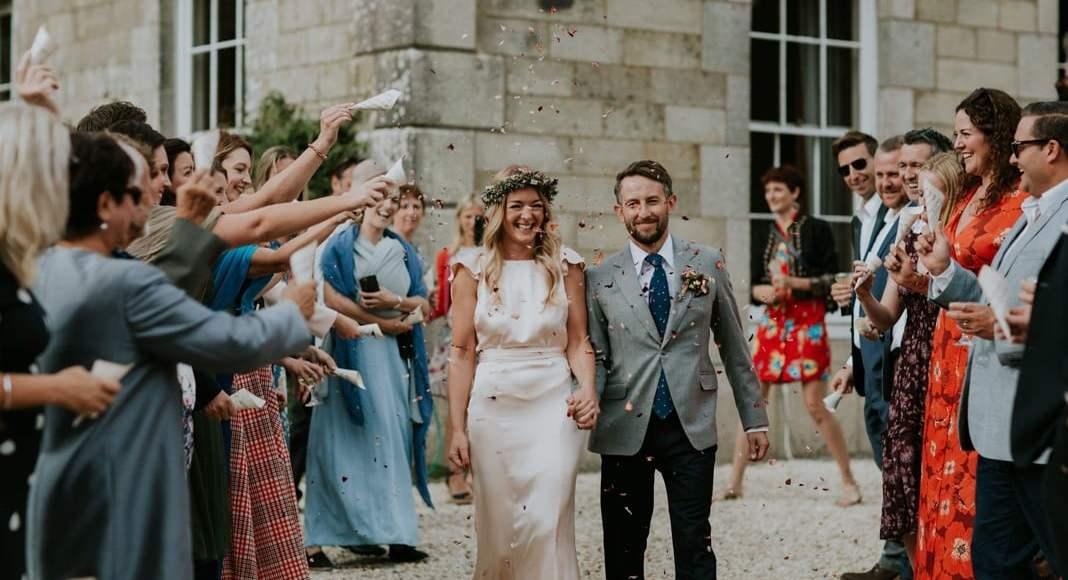 Real wedding: Cornish cream