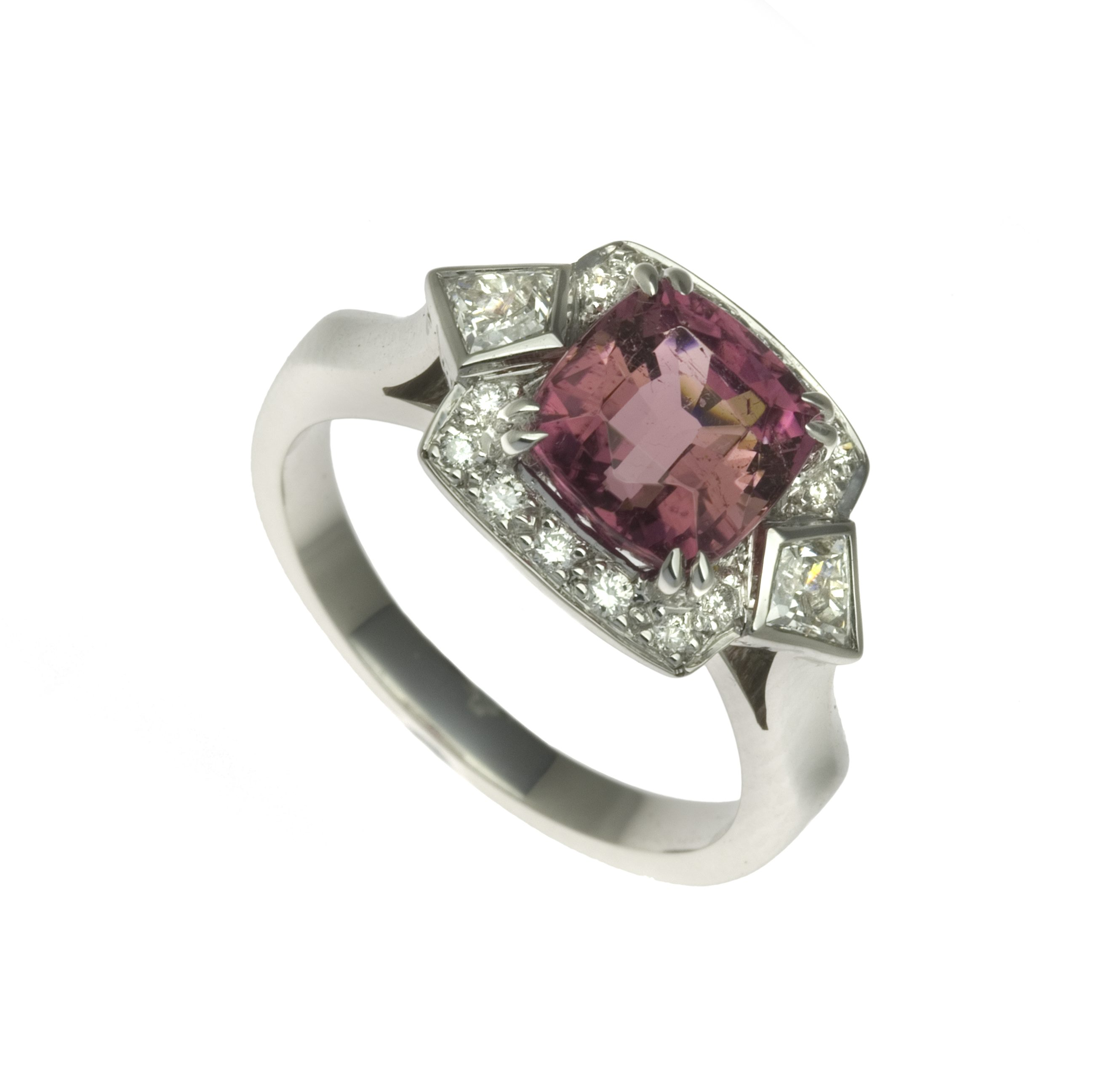 a pin light colored with radiant ring pink set diamond cut rings and diamondspink