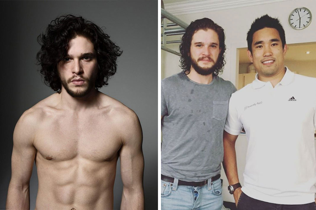 Dalton Wong and Kit Harington