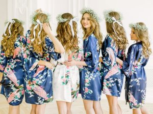 Floral bridemaids robes picture