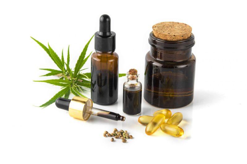 essential Cannabinol CBD, cannabis molecule. cannabis or hemp absolutely adell