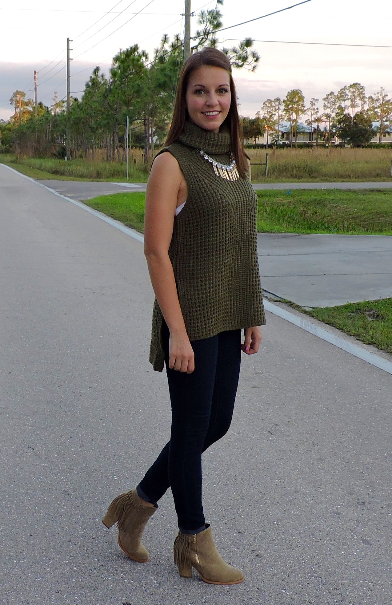 DSCN0188 - Statement Necklace With Turtleneck by Florida fashion blogger Absolutely Annie