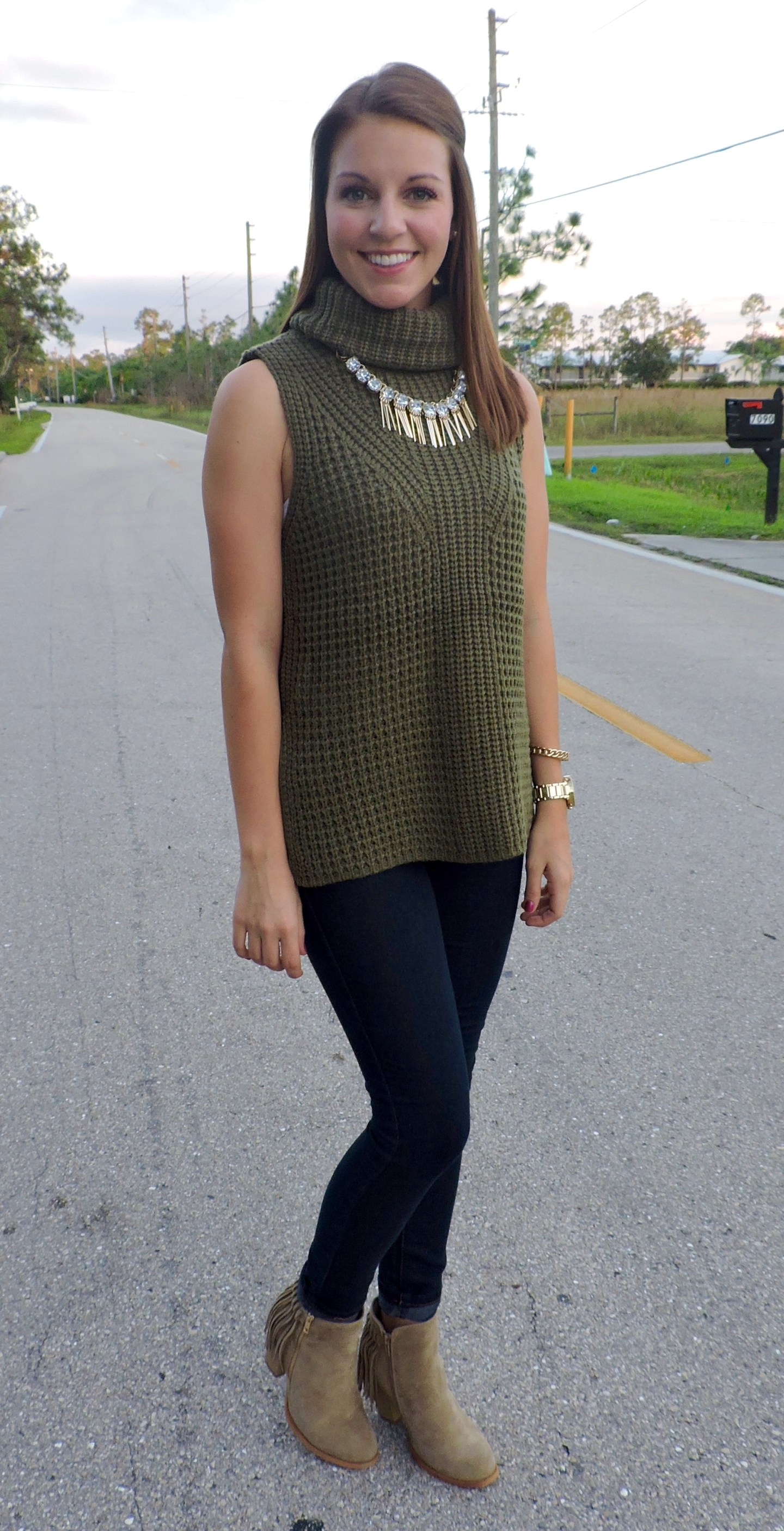 DSCN0193 - Statement Necklace With Turtleneck by Florida fashion blogger Absolutely Annie